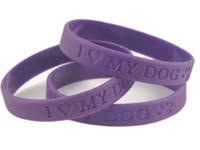 I Love My Dog Silicone Bracelet